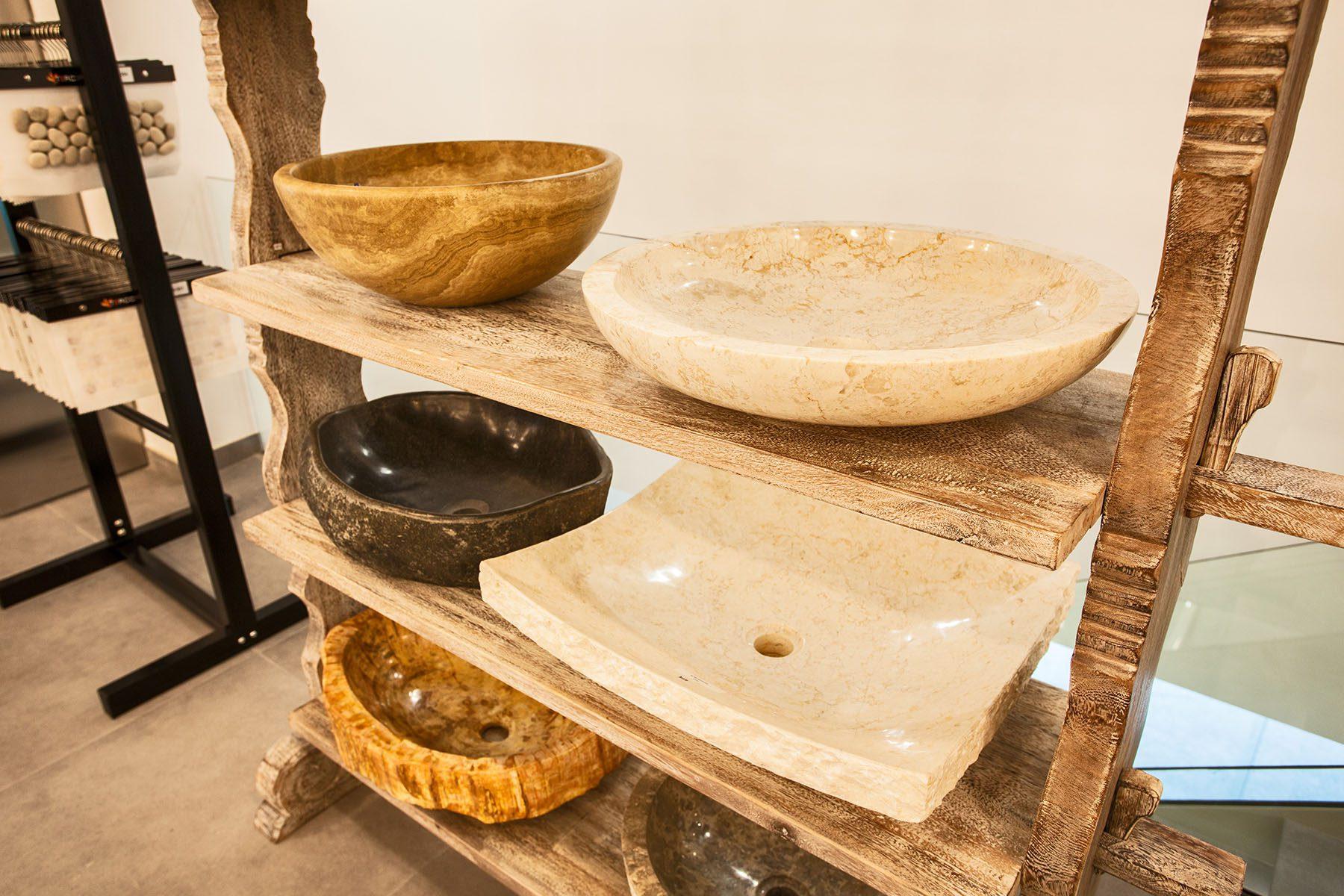 Terracotta piedra natural mosaico y lavamanos imagal - Lavabos de piedra natural ...