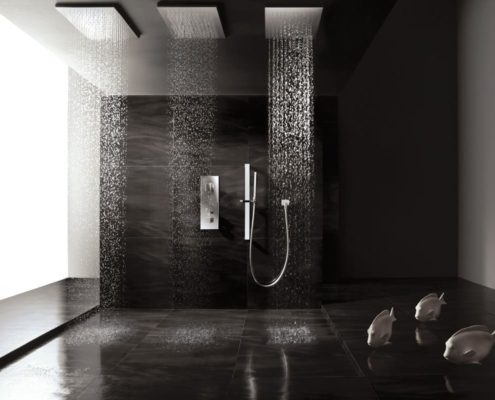 ceramica negra baño