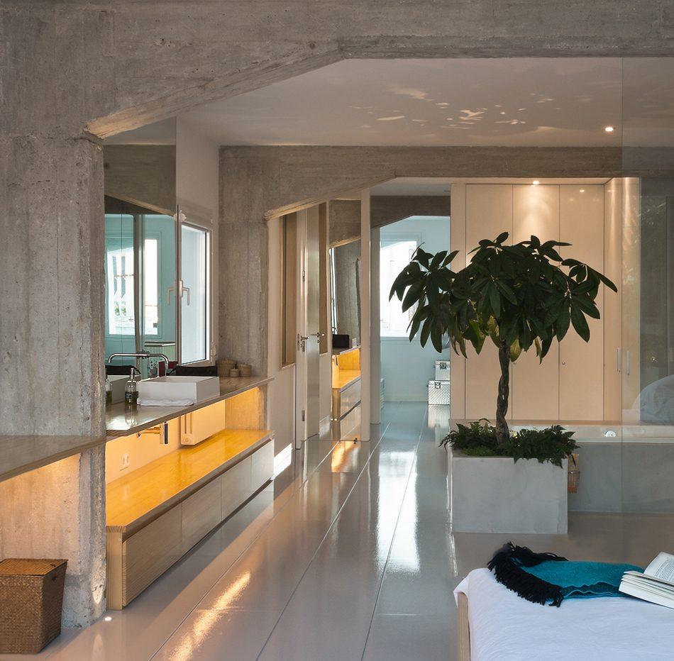 fotografía de un baño diferente